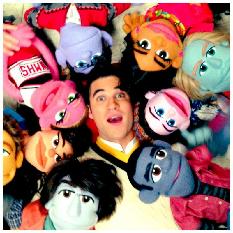 Update: More GLEE Puppets, With Added Darren Criss! Is An AVENUE Q Tribute Happening?!