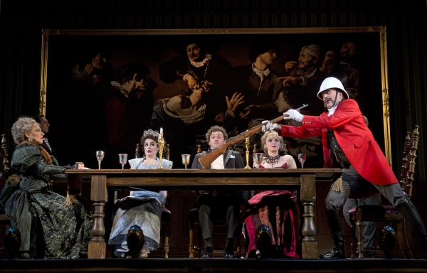 Joanna Glushak as Lady Eugenia, Lauren Worsham as Phoebe D''Ysquith, Bryce Pinkham as Monty Navarro, Lisa O''Hare, and Jefferson Mays