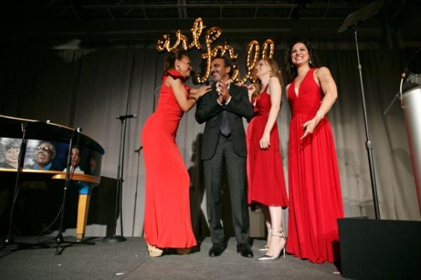 Dueling Carmens bring Gala Honoree Hamdi Ulukaya onto the stage Photo