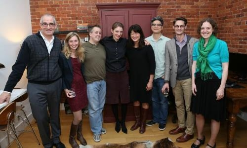 PoNY Fellow with Lark Staff: John Clinton Eisner, Anna Kull, Tim O'Donnell, Vanessa Rose, Kimber Lee, Lloyd Suh, Michael Robertson and Andrea Hiebler