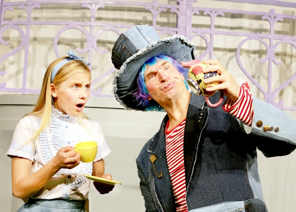 Rachel Forney as Alice and Larry Mahlstedt as Mad Hatter