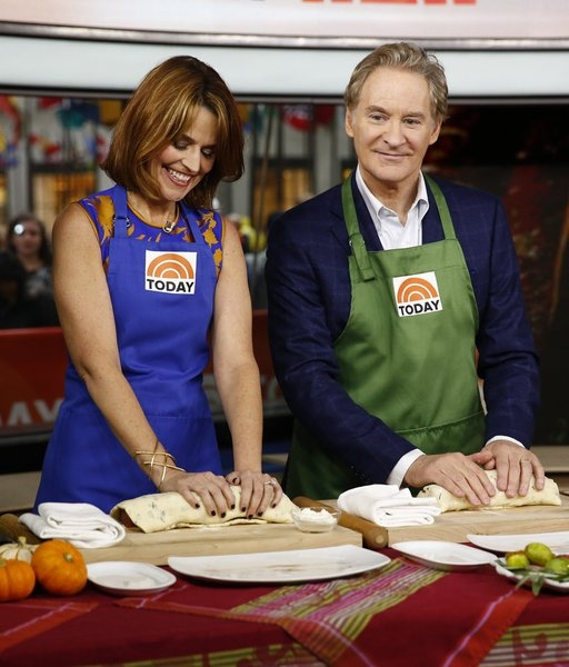 TODAY -- Pictured: (l-r) Savannah Guthrie and Kevin Kline appear on NBC News'' ''Today'' show -- (Photo by: Peter Kramer/NBC)