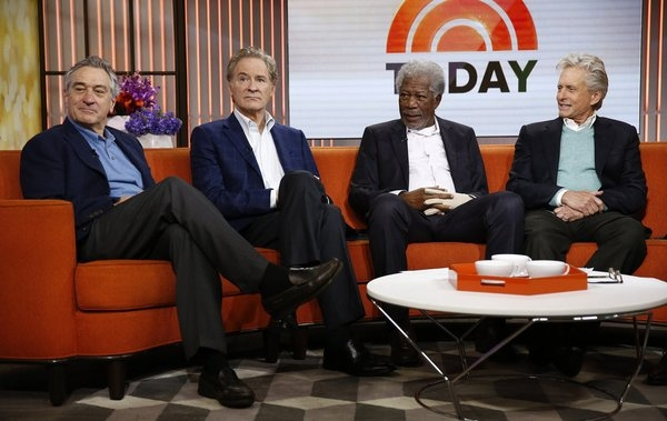 TODAY -- Pictured: (l-r) Robert De Niro, Kevin Kline, Morgan Freeman and Michael Douglas appear on NBC News'' ''Today'' show -- (Photo by: Peter Kramer/NBC)