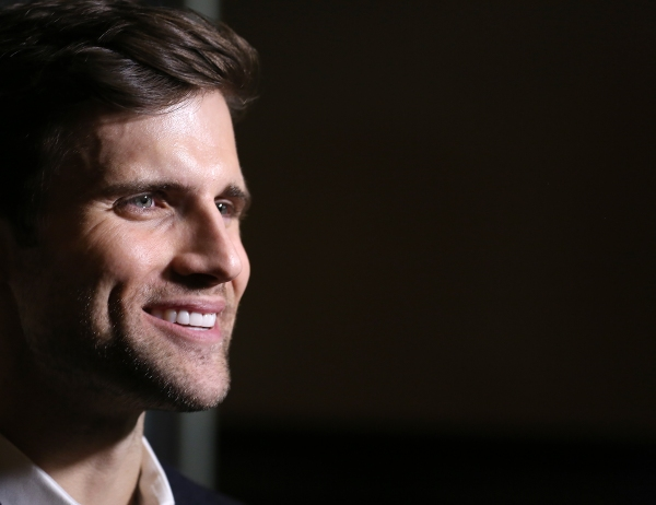 Kyle Dean Massey photographed at the Edison Ballroom on October 30, 2013 in New York City.