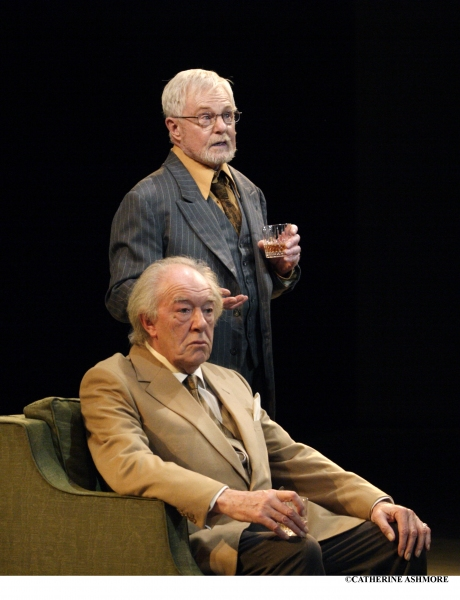 SIR MICHAEL GAMBON as Hirst and SIR DEREK JACOBI as Spooner in Harold Pinter's No Man's Land (first performed at the NT in 1975 with Sir John Gielgud and Sir Ralph Richardson)