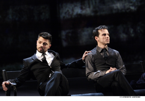 DOMINIC COOPER and ANDREW SCOTT in Angels in America by Tony Kushner (which received its London premiere at the NT in 1992)