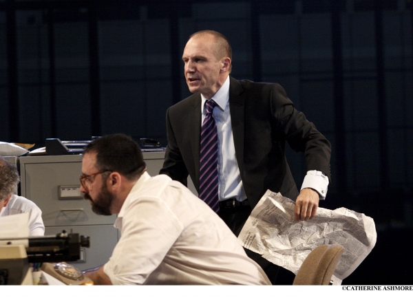 RALPH FIENNES as Lambert Le Roux in Pravda by Howard Brenton & David Hare (a role originally played by Anthony Hopkins in the play's premiere at the NT in 1985)