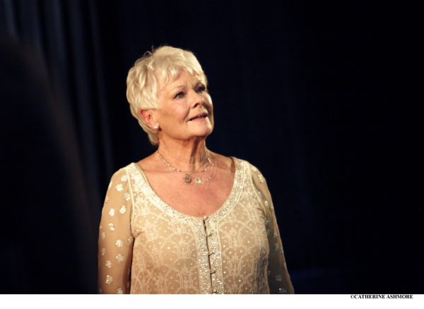 DAME JUDI DENCH giving a speech as Cleopatra in Antony and Cleopatra (which she origi Photo