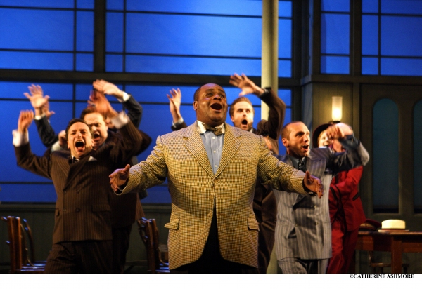 CLIVE ROWE as Nicely-Nicely in the musical Guys and Dolls (a role he played in the production's revival at the NT in 1996, having first been produced there in 1982)