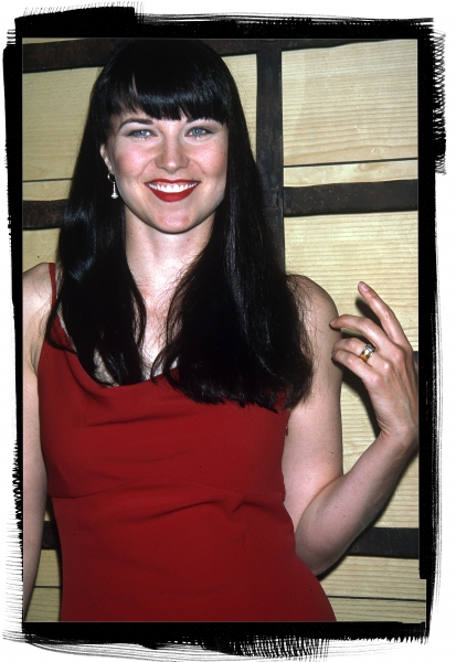 Lucy Lawless at the NATPE Convention in New Orleans in January of 1997.  Photo