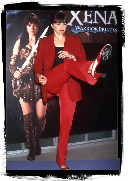 Lucy Lawless at the NATPE Convention in New Orleans in January of 1997.