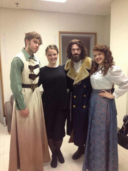 Photo Flash: Saturday Intermission Pics, Nov 2, Part 2 - Ladies of ANNIE Dress as The Orphans for Halloween and More!