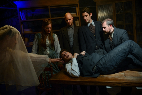 Megan Kohl, Amanda Drinkall, Michael Tepeli (lying down), Kyle Gibson, John Taflan and John Ferrick