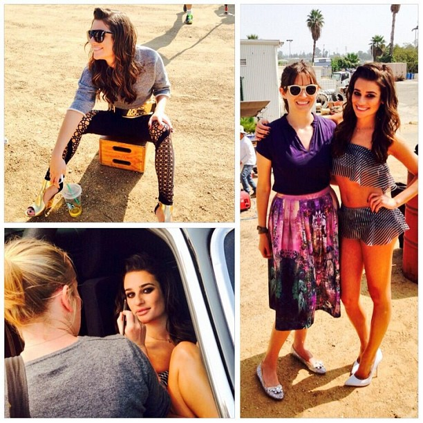 Behind The Scenes Of Lea Michele's ELLE Cover Photo Shoot