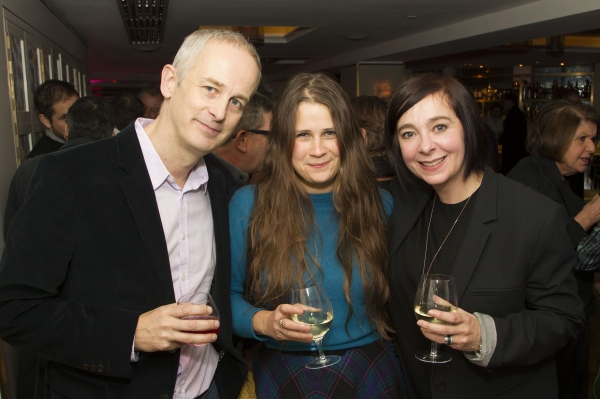Dominic Cooke, Lucy Kirkwood and Vicky Featherstone Photo Credit: Dan Wooller/wooller.com