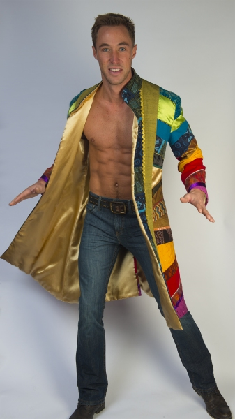 Kyle Lowder as the title role in JOSEPH AND THE AMAZING TECHNICOLOR DREAMCOAT at The Media Theatre