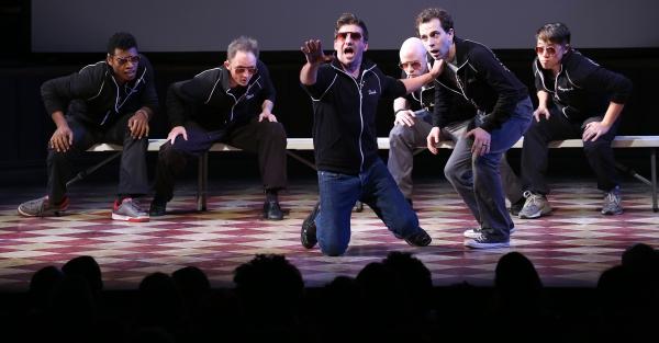 David Josefsberg, Rob McClure and the cast