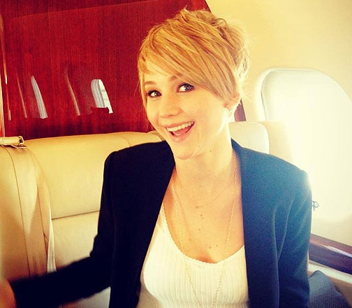 Jennifer Lawrence Reveals New Pixie Haircut to Fans