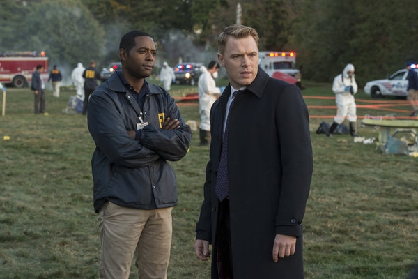 THE BLACKLIST -- ''General Ludd'' Episode 107 -- Pictured: (l-r) Royce Johnson as Agent Heller, Diego Klattenhoff as Donald Ressler -- (Photo by: David Giesbrecht/NBC)