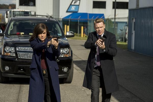 THE BLACKLIST -- ''General Ludd'' Episode 107 -- Pictured: (l-r) Megan Boone as Elizabeth Keen, Diego Klattenhoff as Donald Ressler -- (Photo by: David Giesbrecht/NBC)
