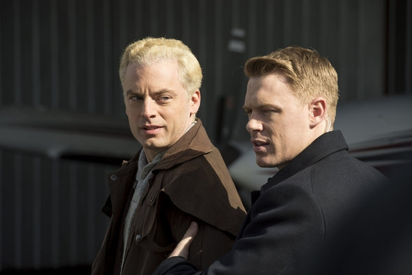 THE BLACKLIST -- ''General Ludd'' Episode 107 -- Pictured: (l-r) Justin Kirk as Nathaniel Wolff, Diego Klattenhoff as Donald Ressler -- (Photo by: David Giesbrecht/NBC)
