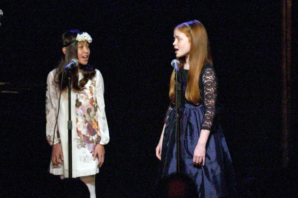 Amaya Braganza and Sadie Sink (both from Annie) Photo