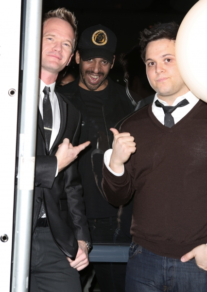 Neil Patrick Harris, David Blaine and Derek Delgaudio