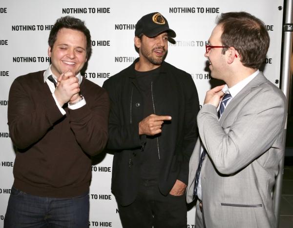 Derek Delgaudio, David Blaine and Helder Guimaraes
