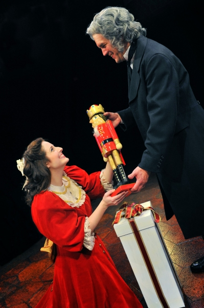 Dara Cameron as Marie and Rob Rahn as Drosselmeyer