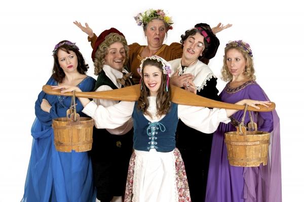 Erika Person as Lady Angela, David Macaluso as Grosvenor, Sarah Caldwell Smith as Pat Photo