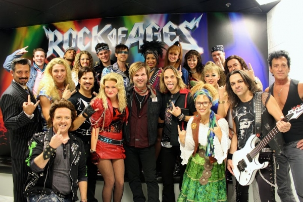 Rikki Rockett with the Rock of Ages Las Vegas Company Photo