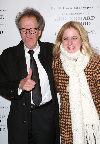 Geoffrey Rush and Lisa Lambert