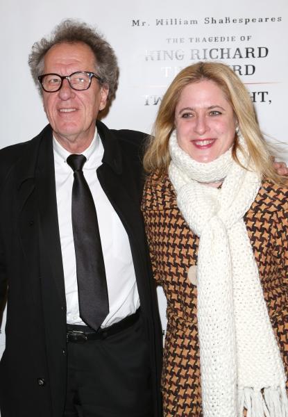 Geoffrey Rush and Lisa Lambert