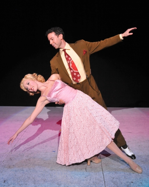 Kelly Sheehan (Judy) and Jeremy Benton (Phil) perform ''The Best Things Happen While You''re Dancing''