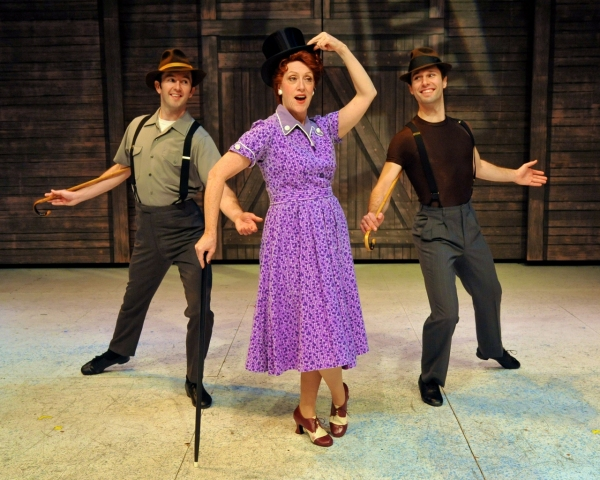 Sean Quinn, Karen Murphy (Martha) and Caleb Teicher perform ''Let Me Sing And I''m Ha Photo