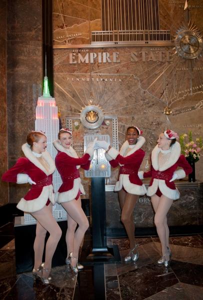 Rockettes Kali Grinder, Lindsay Howe, Jennifer Laroche and Kim Petros