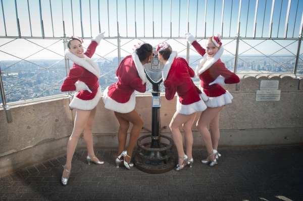 Photo Flash: Rockettes Light Empire State Building for CHRISTMAS SPECTACULAR Opening Night!