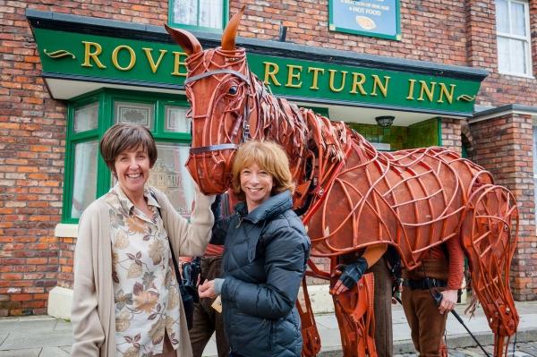 Photos: Joey, Star of WAR HORSE, Visits CORONATION STREET Set