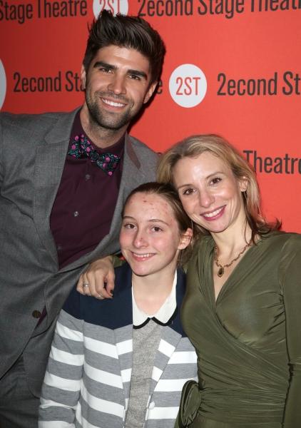 Justin Mikita, Sarah Saltzberg with her daughter