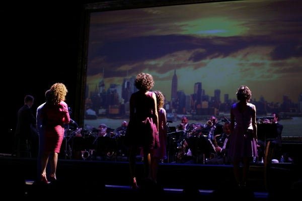 Jeremy Jordan, Norm Lewis, Tyler Hanes, Grasan Kingsberry, Bernadette Peters, Elizabeth Parkinson and Cyrille Aimee with Conductor David Loud