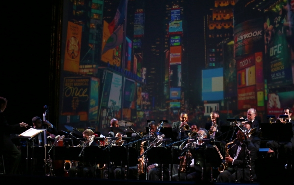 Conductor David Loud and Wynton Marsalis with the Jazz at Lincoln Center Orchestra