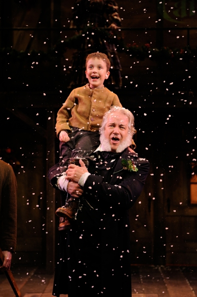 Fred Sullivan, Jr. as Scrooge and Nicholas Maltais as Tiny Tim