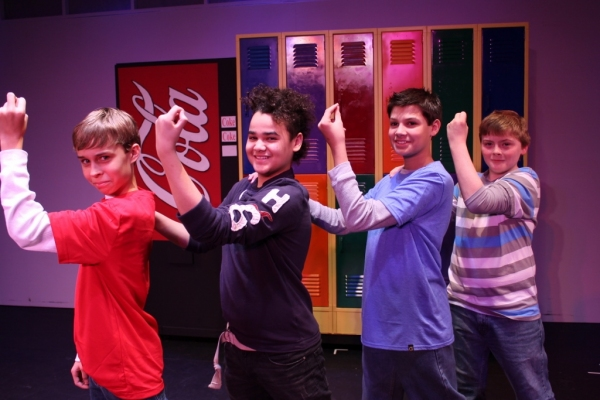theo okkerse as eddie, Julian morales as malcolm, ryan ferrante as Richie and mickey gray as simon