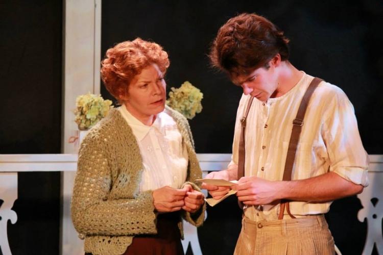 High Res Eliza (Alison Blanchard) conveys the bad news to Eugene (Grant Tambellini)