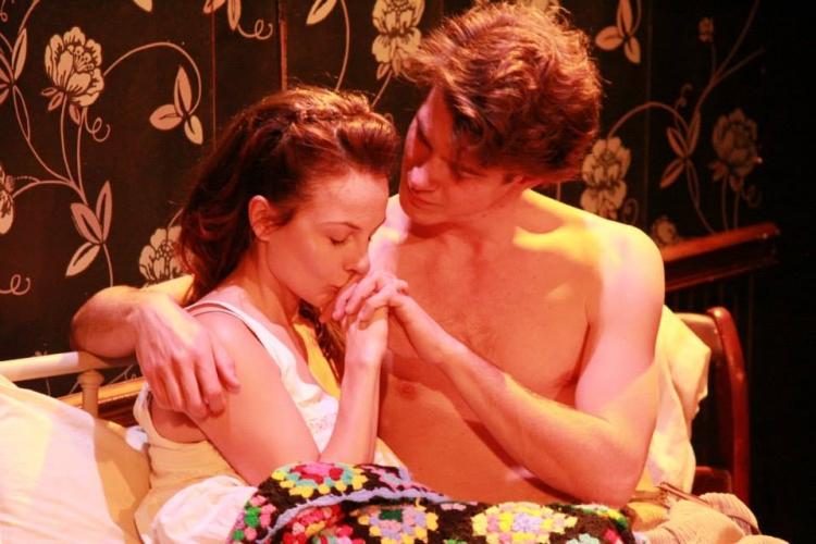 High Res Laura (Marika Engelhardt) and Eugene (Grant Tambellini) find secret passion.