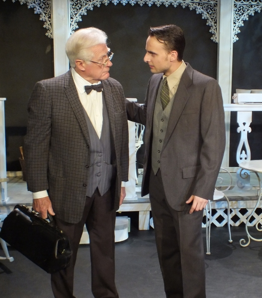 Dr. Maguire (Bill Lewis) advises Ben (AJ Jones)