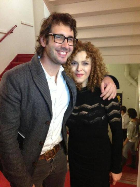 Josh Groban & Bernadette Peters Pose For A Photo At A BED AND A CHAIR