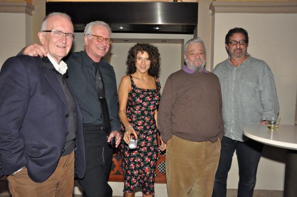 John Doyle, Jack Viertel, Cyrille Aimee, Stephen Sondheim and Peter Gethers Photo