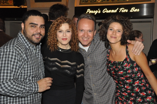 Bernadette Peters and Cyrille Aimee are joined by band members Carlos Henriquez and Ted Nash