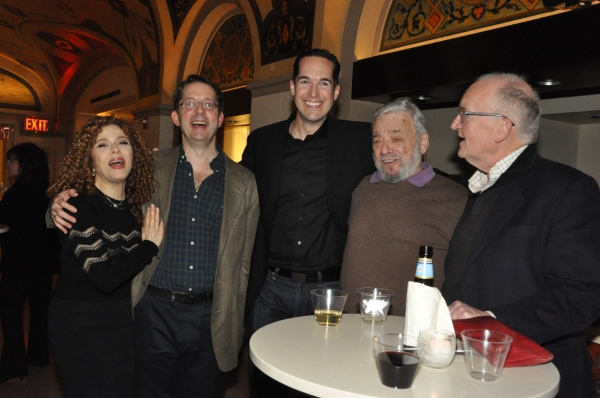 Bernadette Peters, David Loud, Parker Esse, Stephen Sondheim and John Doyle
